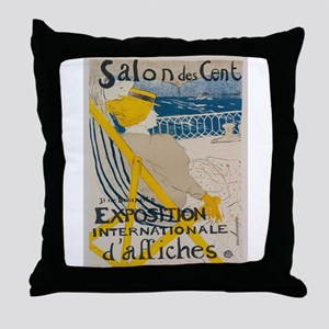 Vintage poster - Salon des Cent Throw Pillow
