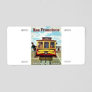 Vintage poster - San Franci Aluminum License Plate