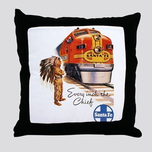 Vintage poster - Santa Fe Throw Pillow
