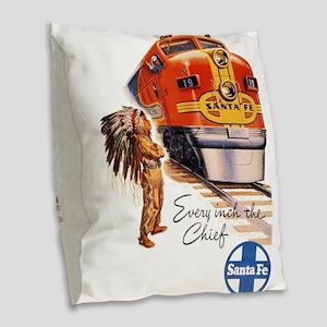 Vintage poster - Santa Fe Burlap Throw Pillow