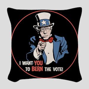 Bernie Wants You Woven Throw Pillow