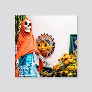 Day of the Dead Altar with Skeleton Lady i Sticker