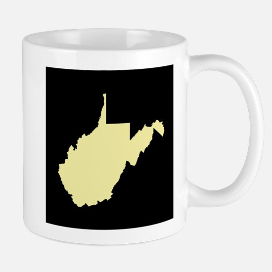 west virginia yellow black Mug