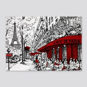 Cafe De Paris 5'x7'Area Rug