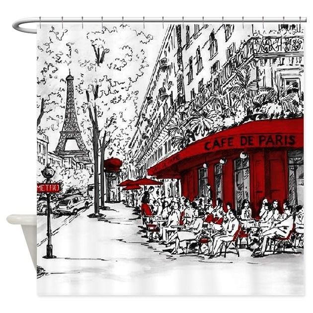 Cafe De Paris Shower Curtain By Admin CP124181568
