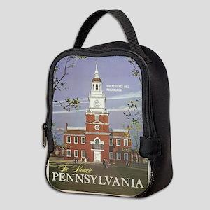 Vintage poster - Pennsylvania Neoprene Lunch Bag
