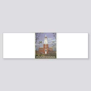 Vintage poster - Pennsylvania Bumper Sticker