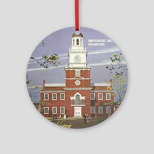 Vintage poster - Pennsylvania Round Ornament
