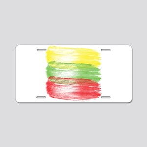 lithuania flag lithuanian Aluminum License Plate
