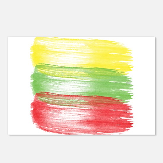 lithuania flag lithuanian Postcards (Package of 8)