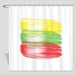lithuania flag lithuanian Shower Curtain