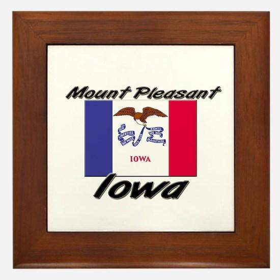 Mount Pleasant Iowa Framed Tile