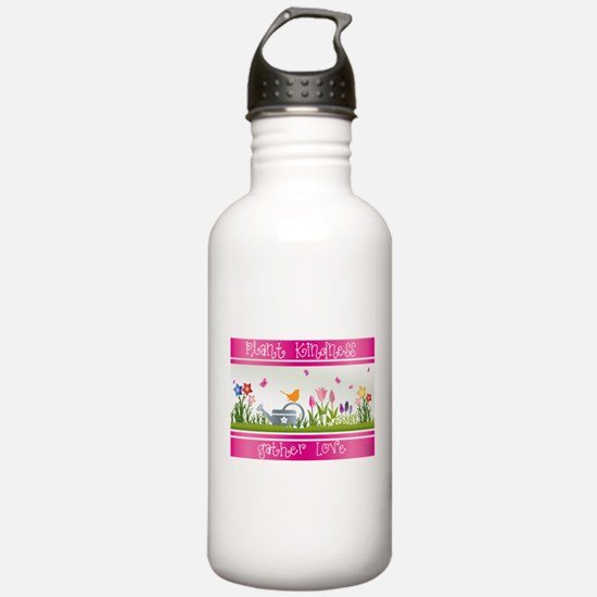 Plant Kindness Gather Love Water Bottle