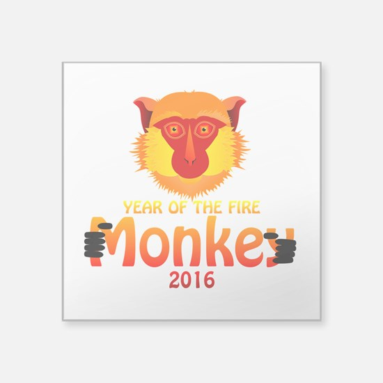 "Year of the Monkey Square Sticker 3"" x 3"""