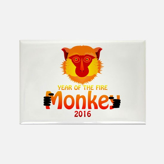 Year of the Monkey Rectangle Magnet