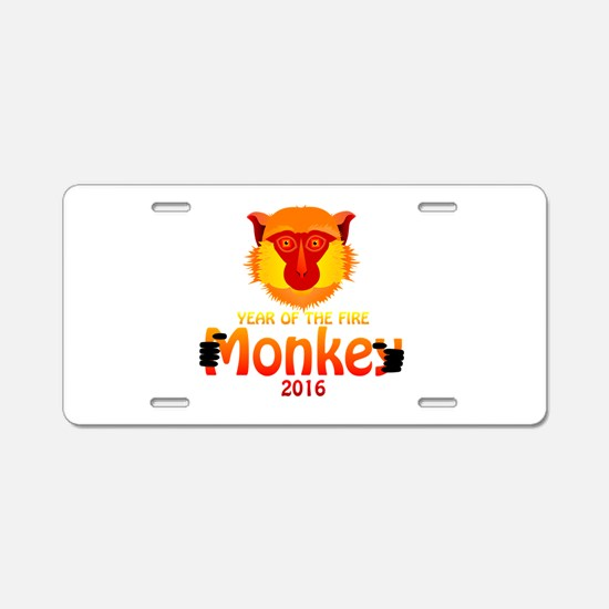Year of the Monkey Aluminum License Plate