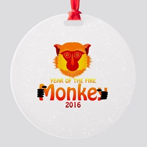 Year of the Monkey Round Ornament