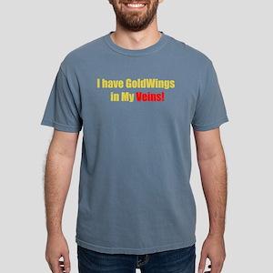 """GoldWings in My Veins Black T-Shirt"