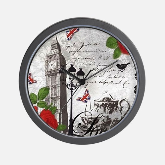 Cute London england Wall Clock