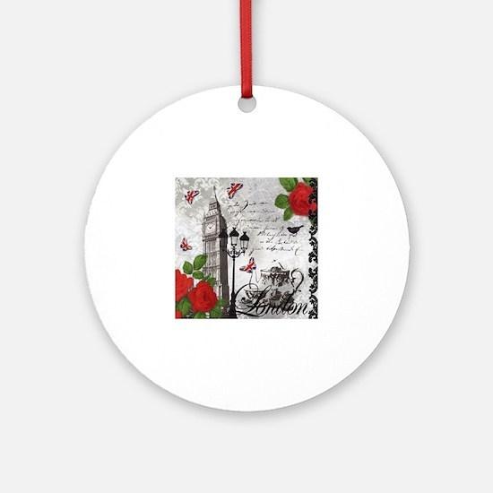 Cute United kingdom Round Ornament