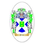 Plata Sticker (Oval 10 pk)