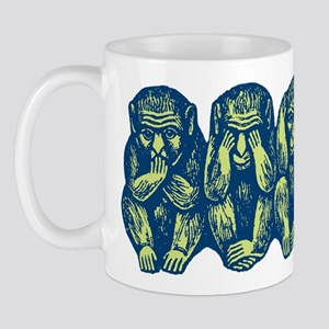 See Hear Speak No Evil Monkey Mug