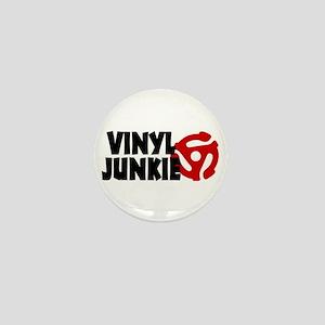 Vinyl Junkie Mini Button