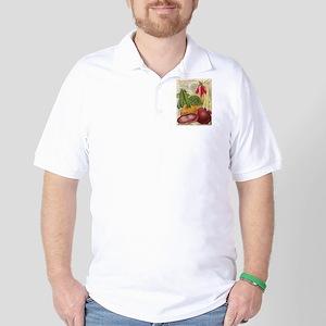 Vintage poster - Seven Grand Vegetables Golf Shirt