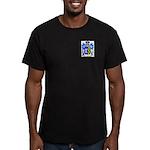 Plain Men's Fitted T-Shirt (dark)