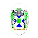 Plaice Oval Car Magnet