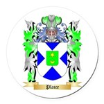 Plaice Round Car Magnet