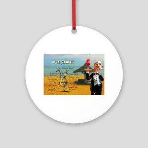 Blue Hawaii (Beach) Round Ornament