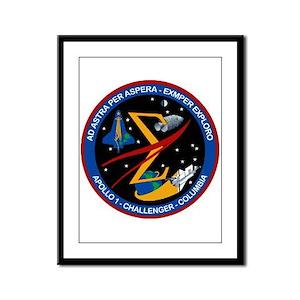 Space Flight Memorial Framed Panel Print