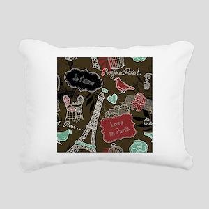 Bonjour Paris ! Rectangular Canvas Pillow