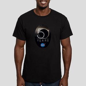 NASA @ 50! Men's Fitted T-Shirt (dark)