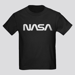 NASA Worm Logo Kids Dark T-Shirt