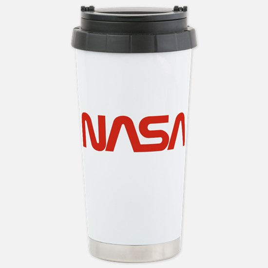 NASA Worm Logo Stainless Steel Travel Mug