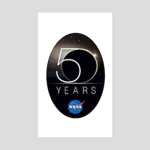 NASA @ 50! Sticker (Rectangle)