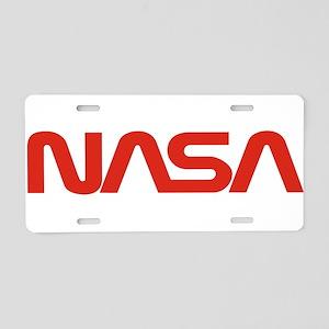 NASA Worm Logo Aluminum License Plate