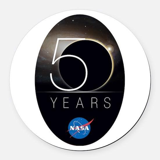 NASA @ 50! Round Car Magnet