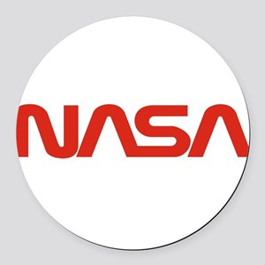 NASA Worm Logo Round Car Magnet