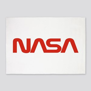 NASA Worm Logo 5'x7'Area Rug