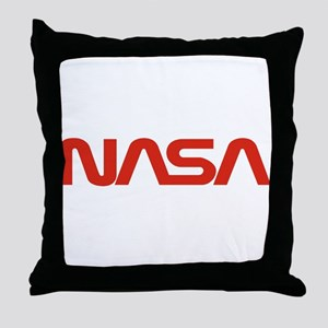 NASA Worm Logo Throw Pillow