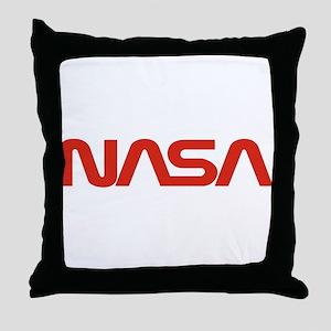 NASA Worm Logo Throw Pillow