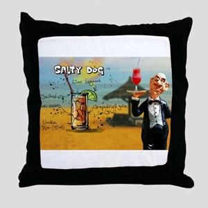 Salty Dog (Beach) Throw Pillow