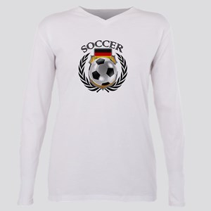 Germany Soccer Fan Plus Size Long Sleeve Tee