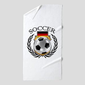 Germany Soccer Fan Beach Towel