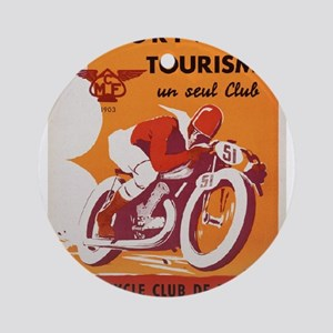 Vintage poster - Motocycle Club de Round Ornament