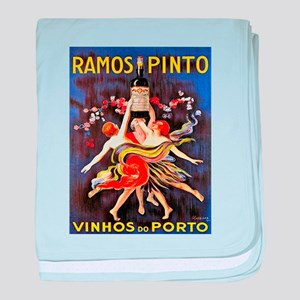 Vintage poster - Ramos Pinto baby blanket