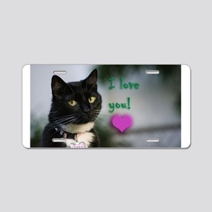 Kitty and love Aluminum License Plate
